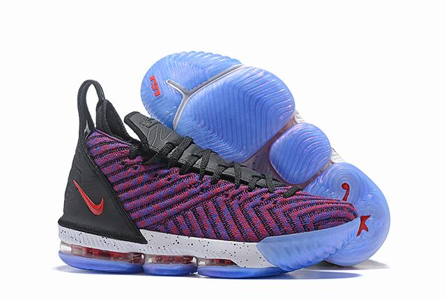 Nike Lebron James 16 Air Cushion Shoes Rainbow Black White Red